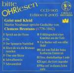 Bitte OHRlesen - Edition II 2005: Clemens Brentano