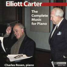 Elliott Carter (1908-2012): Klavierwerke, CD