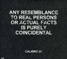 Calibro 35: Any Resemblance To Real Persons Or Actual Facts Is, CD