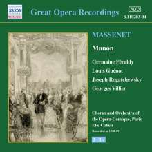 Jules Massenet (1842-1912): Manon, 2 CDs