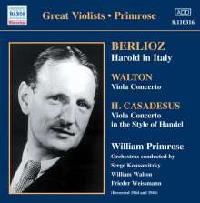 William Primrose spielt Violakonzerte, CD