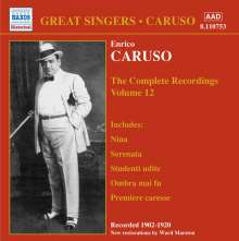 Enrico Caruso:The Complete Recordings Vol.12, CD