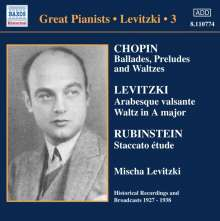 Mischa Levitzki - Complete Recordings Vol.3, CD