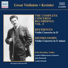 Fritz Kreisler - Complete Concerto Recordings Vol.5, CD