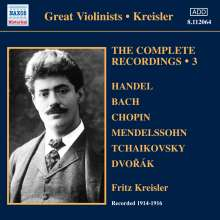 Fritz Kreisler - The Complete Recordings Vol.3, CD