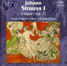Johann Strauss I (1804-1849): Johann Strauss Edition Vol.22, CD