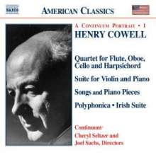 Henry Cowell (1897-1965): Instrumental,Chamber & Vocal Music 1, CD