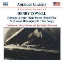 Henry Cowell (1897-1965): Instrumental,Chamber & Vocal Music 2, CD