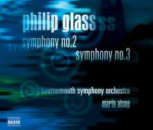 Philip Glass (geb. 1937): Symphonien Nr.2 & 3, CD