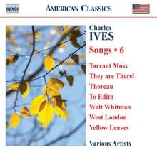 Charles Ives (1874-1954): Lieder Vol.6, CD