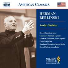 Herman Berlinski (geb. 1910): Avodat Shabbat, CD