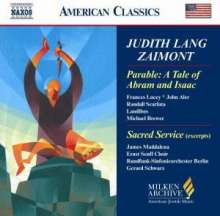 Judith Lang Zaimont (geb. 1945): Sacred Service for the Sabbath Evening (Ausz.), CD