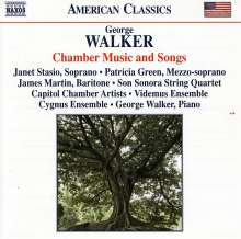 George Walker (geb. 1922): Kammermusik & Lieder, CD