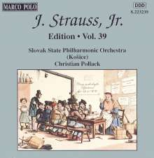 Johann Strauss II (1825-1899): Johann Strauss Edition Vol.39, CD