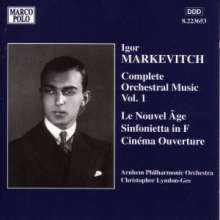 Igor Markevitch (1912-1983): Orchesterwerke Vol.1, CD