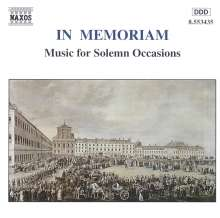 In Memoriam - Music for Solemn Occasions, CD