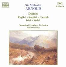 Malcolm Arnold (1921-2006): Scottish,Irish,Cornish & English Dances, CD