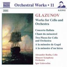 Alexander Glasunow (1865-1936): Werke f.Cello & Orchester, CD