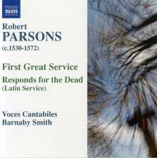 Robert Parsons (1530-1572): First Great Service, CD