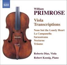 William Primrose (1904-1982): Viola-Transkriptionen, CD
