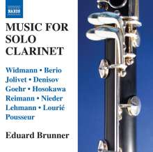 Eduard Brunner - Music For Solo Clarinet, CD