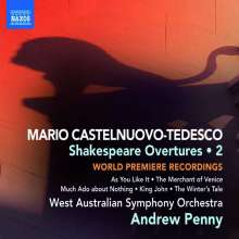 Mario Castelnuovo-Tedesco (1895-1968): Shakespeare-Ouvertüren Vol.2, CD