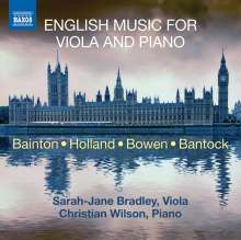 Sarah-Jane Bradley & Christian Wilson - English Music For Viola and Piano, CD