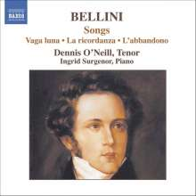 Vincenzo Bellini (1801-1835): Klavierlieder, CD