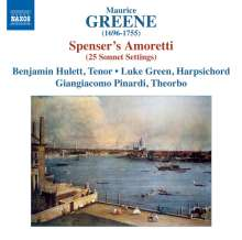 Maurice Greene (1696-1755): Spencer's Amoretti - 25 Sonnet Settings, CD