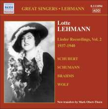 Lotte Lehmann - Lieder Recordings Vol.2, CD