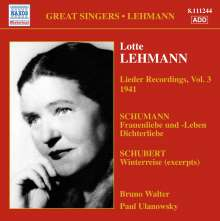 Lotte Lehmann - Lieder Recordings Vol.3, CD