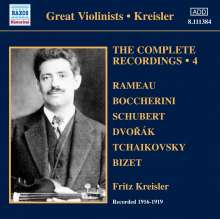 Fritz Kreisler - The Complete Recordings Vol.4, CD