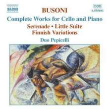 Ferruccio Busoni (1866-1924): Kleine Suite f.Cello & Klavier op.23, CD