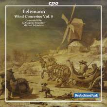 Georg Philipp Telemann (1681-1767): Bläserkonzerte Vol.8, CD