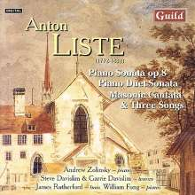 Anton Liste (1772-1832): Klaviersonate in A op.8, CD