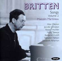 Benjamin Britten (1913-1976): Songs Vol.2, 2 CDs