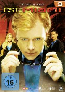 CSI Miami Season 3, 6 DVDs