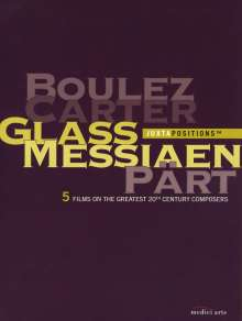 Boulez/Carter/Glass/Messiaen/Part, 5 DVDs