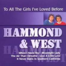 Hammond & West: To All The Girls I've Loved Before, CD