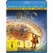 Hugo Cabret 3D (3D-Blu-ray + 2D Blu-ray +DVD + Digital Copy), 2 Blu-ray Discs