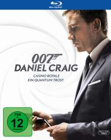 James Bond: Ein Quantum Trost + Casino Royale (Blu-ray), 2 Blu-ray Discs