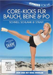 Fitness For Me - Core-Kicks für Bauch, Beine & Po, DVD
