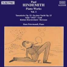 Paul Hindemith (1895-1963): Klavierwerke Vol.1, CD
