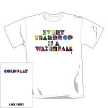 Coldplay: Coloured Teardrop T-Shirt (XL), T-Shirt