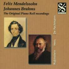 Piano Roll Recordings - Mendelssohn & Brahms, CD