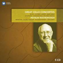 Mstislav Rostropovich - Great Cello Concertos, 5 CDs