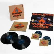 Massive Attack: Blue Lines - 2012 Mix / Master (180g) (Deluxe Collector's Edition) (2LP + CD + DVD + Poster), 2 LPs