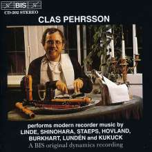 Clas Pehrsson - Modern Recorder Music, CD
