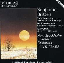 Benjamin Britten (1913-1976): Variations on a Theme by Bridge op.10, CD