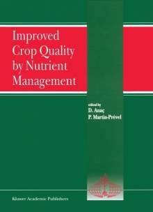 Improved Crop Quality by Nutrient Management, Buch